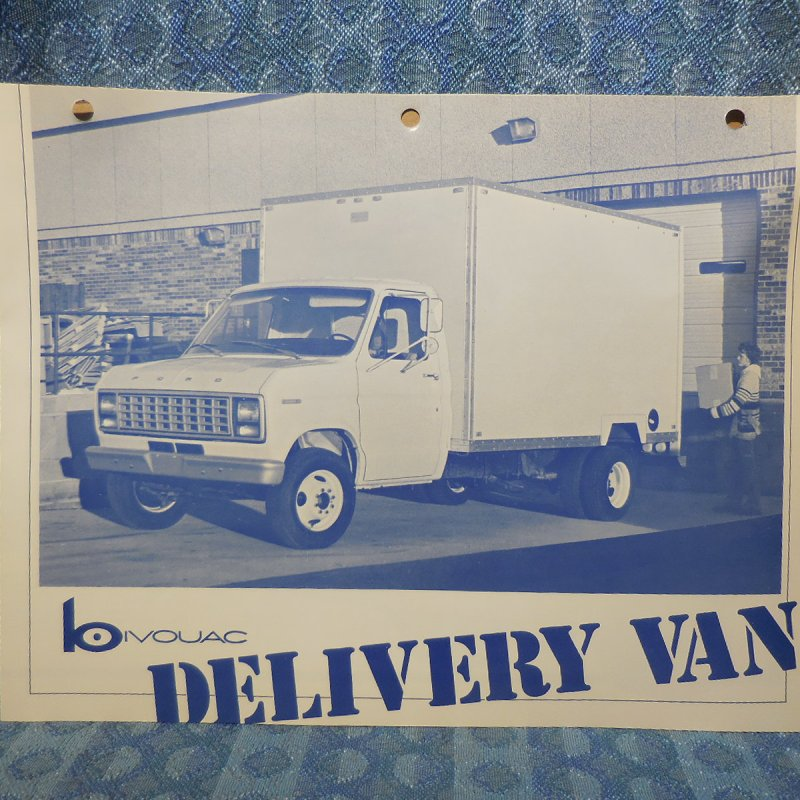 1979 Ford Delivery Van Box Truck by Bivouac Original Sales Brochure