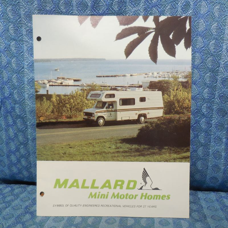 1979 Mallard RV Mini Motorhome / Ford Original Sales Brochure