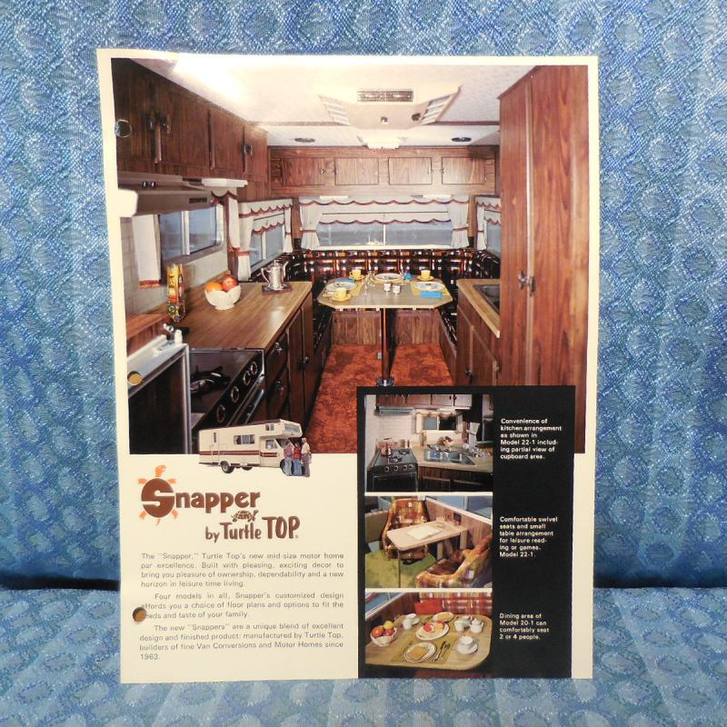 1979 Snapper RV Motorhome / Ford Original Sales Flyer Turtle Top