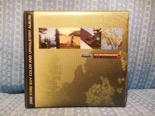 2002 Ford SUV Original Dealer Color & Upholstery Album Explorer Expedition AS IS