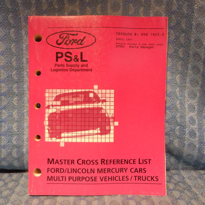 1994-1997 Ford Lincoln Mercury Truck Master Cross Reference List Manual Vol 9