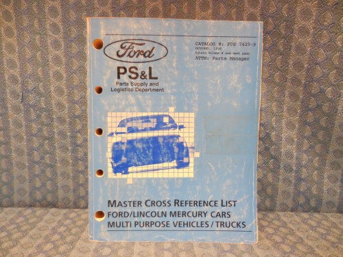 1994-1998 Ford Lincoln Mercury Truck Master Cross Reference List Manual Volume 9