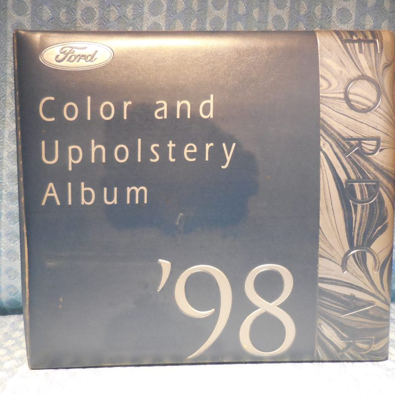 1998 Ford Car Dealer Color & Upholstery Album Mustang Taurus Crown Victoria