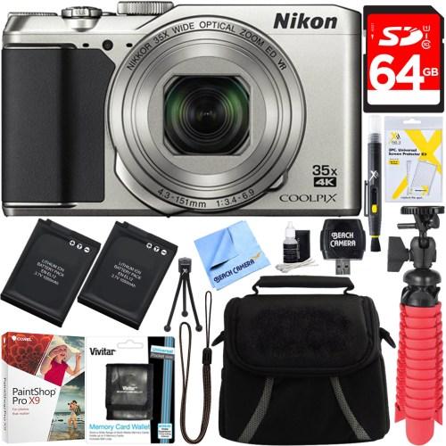 Nikon A900 20MP Longest Slim Zoom COOLPIX WiFi Digital Camera w/4K Video Bundle