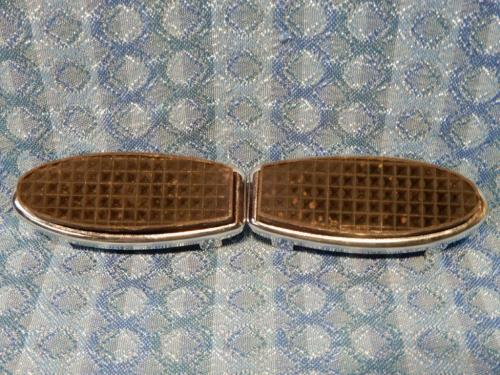 1928-1931 Ford Model A Accessory Fulton Style Pair Of Pedal Pads #A-18422-FUL