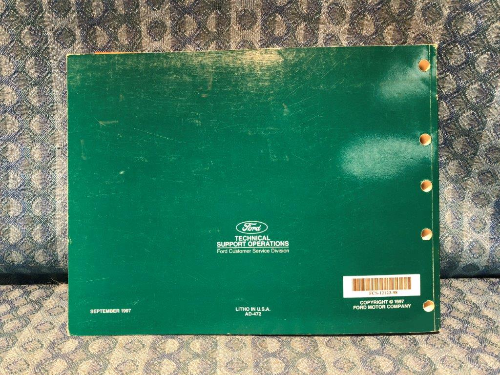 1998 Ford Taurus & Mercury Sable OEM Electrical & Troubleshooting Manual