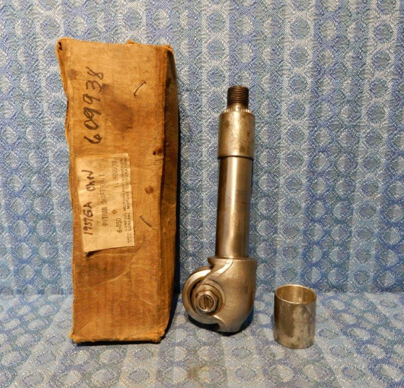 1937 Chevrolet Master Deluxe with Knee Action NOS Pitman Shaft Unit #609938