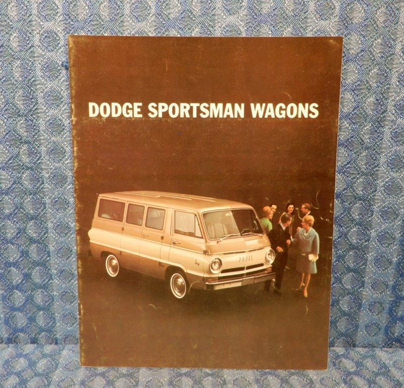 1967 Dodge Sportsman Wagons / Vans Original Sales Brochure