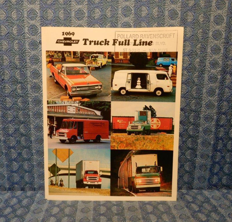 1969 Chevrolet Truck Full Line Original Sales Brochure Light Medium & Heavy Duty