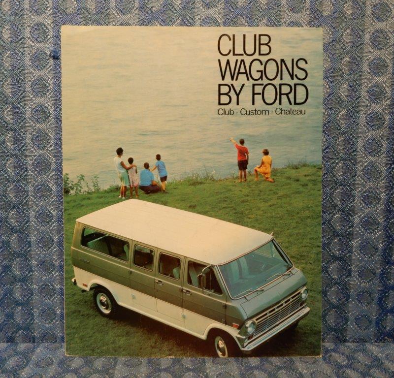1969 Ford Club Wagons Original Sales Brochure Club, Custom, Chateau