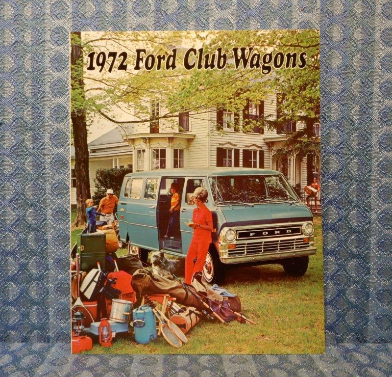1972 Ford Club Wagons Original Sales Brochure
