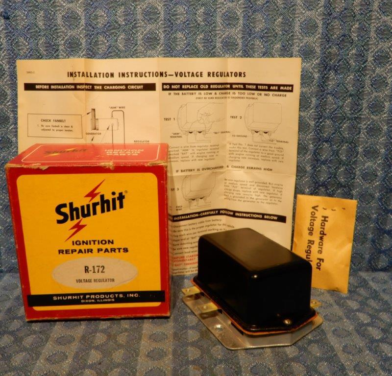 1949-1963 Massey-Harris & Ferguson NORS Voltage Regulator 50 52 56 58 (SEE AD)