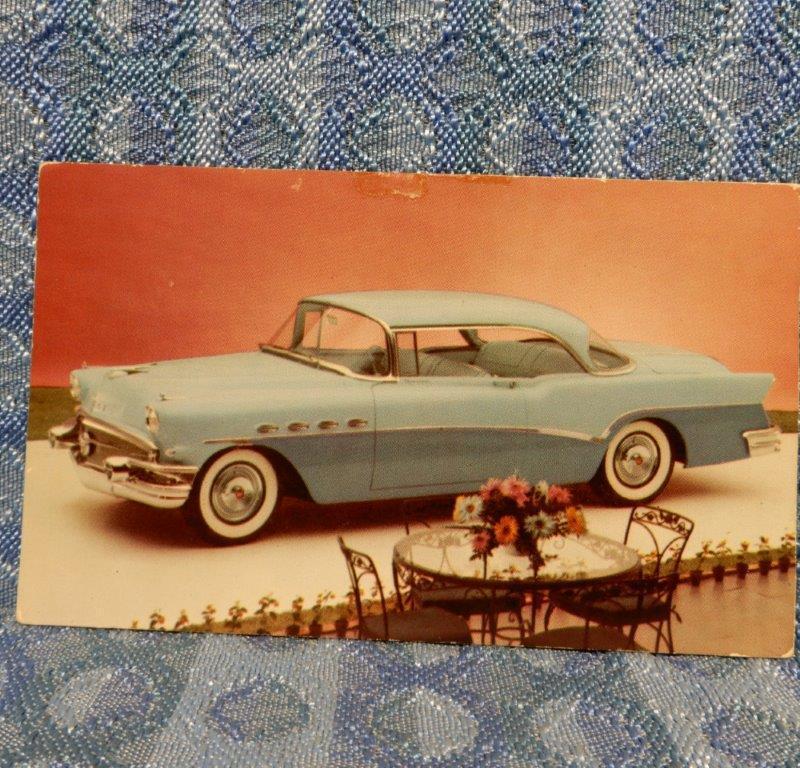 1956 Buick 76-R Roadmaster Rivera Hardtop Original Advertising Postcard