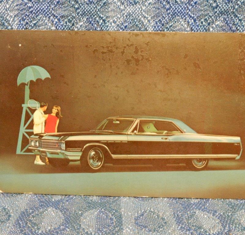 1966 Buick Electra 225 2 Door Hardtop Original Advertising Postcard