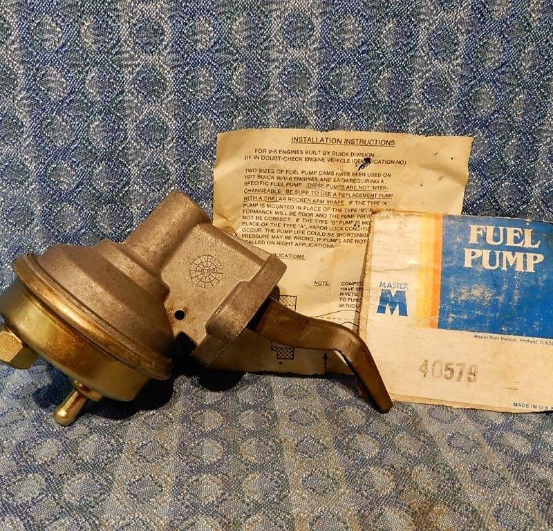 1968-1975 Buick 350 V8 75-77 3.8L NORS Fuel Pump #40759 (SEE AD) 69 70 71 72 73