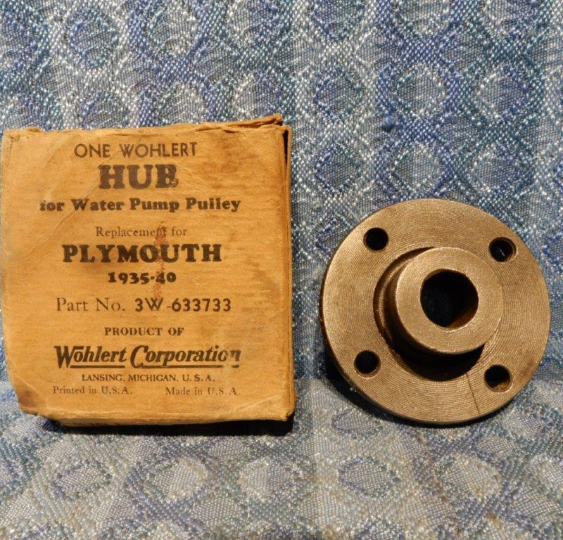 1935-1940 Plymouth NORS Water Pump Pulley Hub 1936 1937 1938 1939 #633733