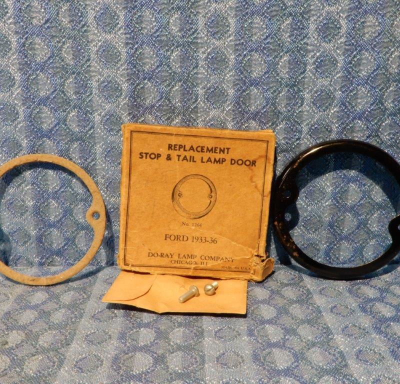 1933-1936 Ford NORS Stop & Tail Lamp / Light, Door / Bezel 1934 1935