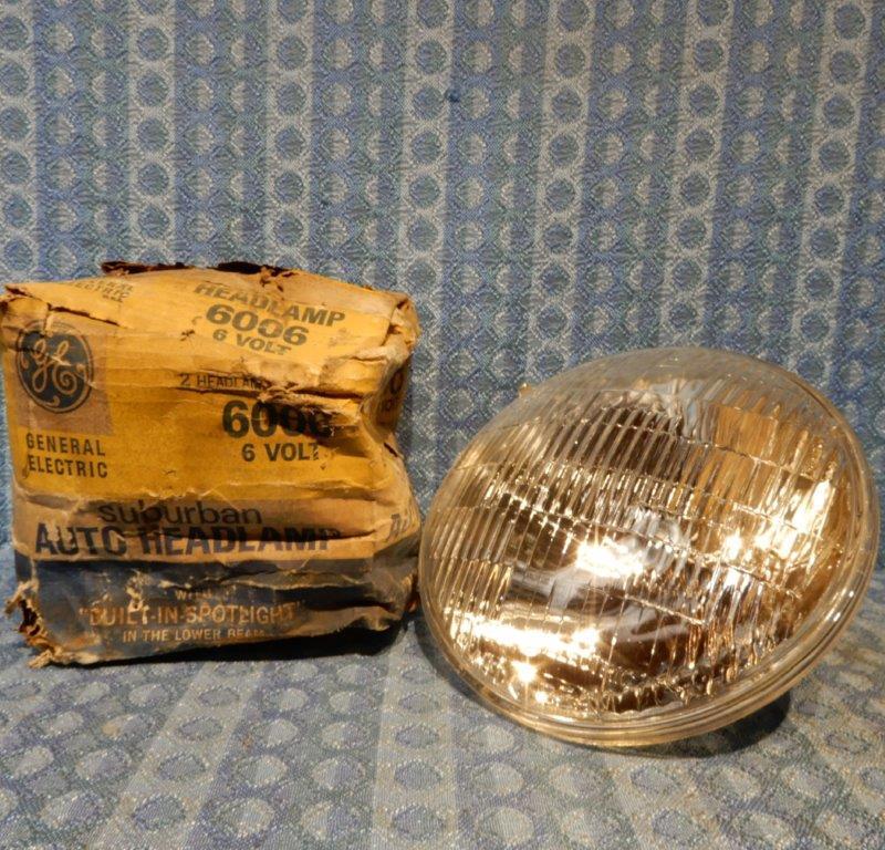 1940-1955 GM Ford Chrysler Studebaker NORS 6 Volt Headlamp Bulb 48 51 53 #6006