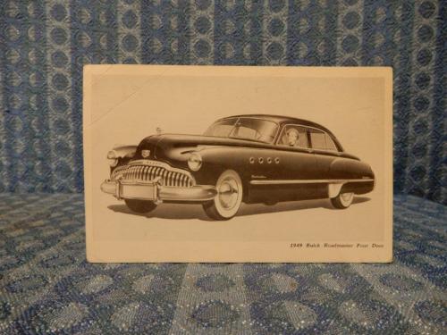1949 Buick Roadmaster Four Door Original Factory / Dealer Postcard
