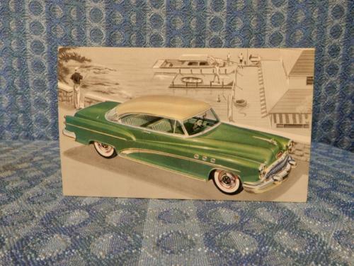 1953 Buick Super Rivera 2 Dr Hardtop 56R Original Factory Dealer Color Postcard