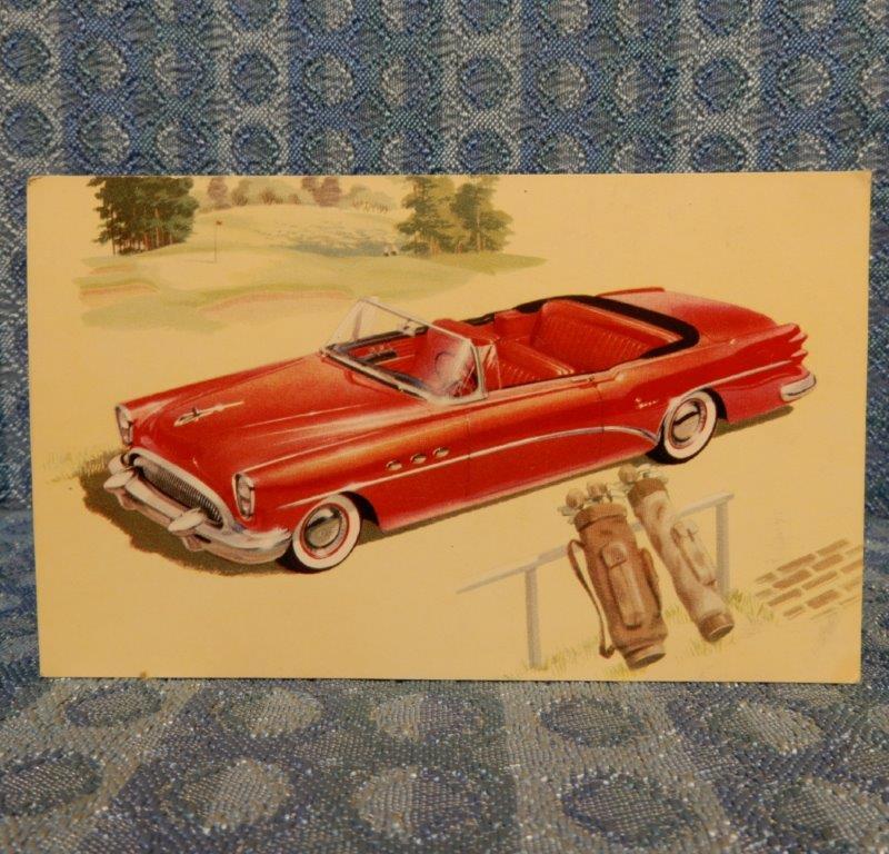 1954 Buick Super Convertible 56C NOS Factory / Dealer Color Postcard