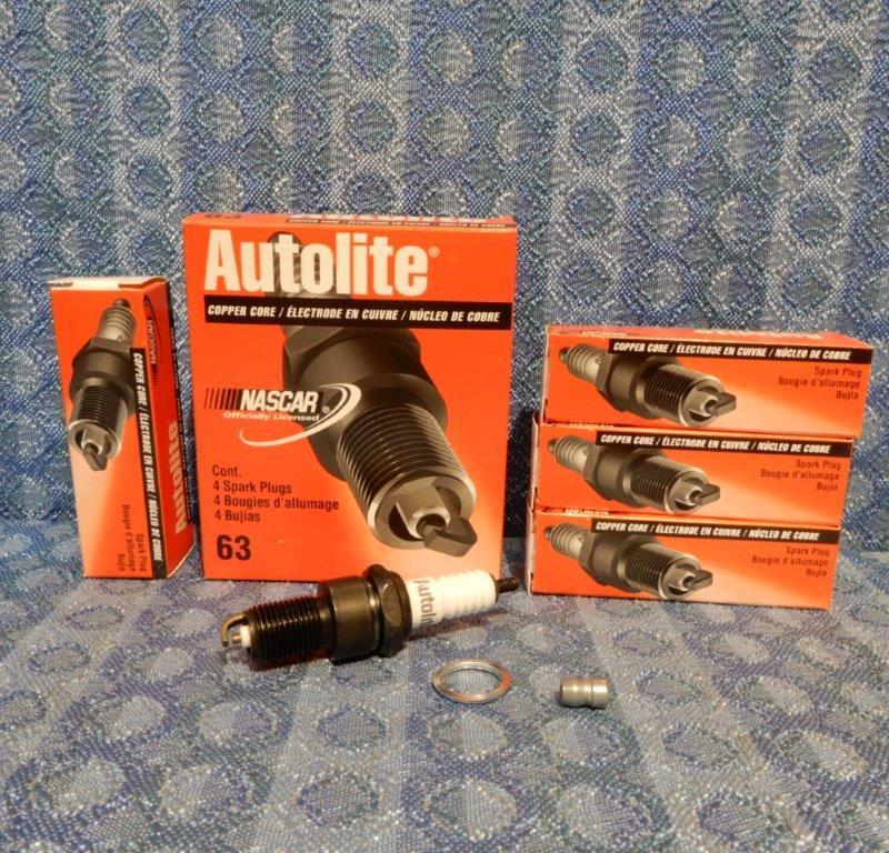 Autolite # 63 NEW 4 Pack Spark Plugs, Copper Core