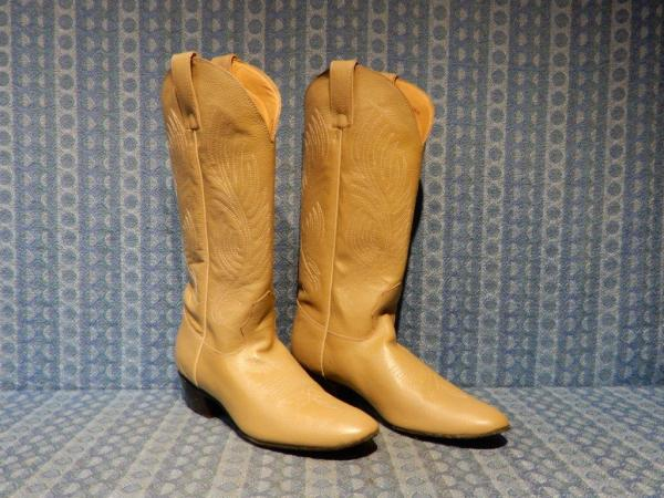 Evening Star Ladies / Womens Suede Sole Dancing Boots 7-1/2 B (Buckskin)