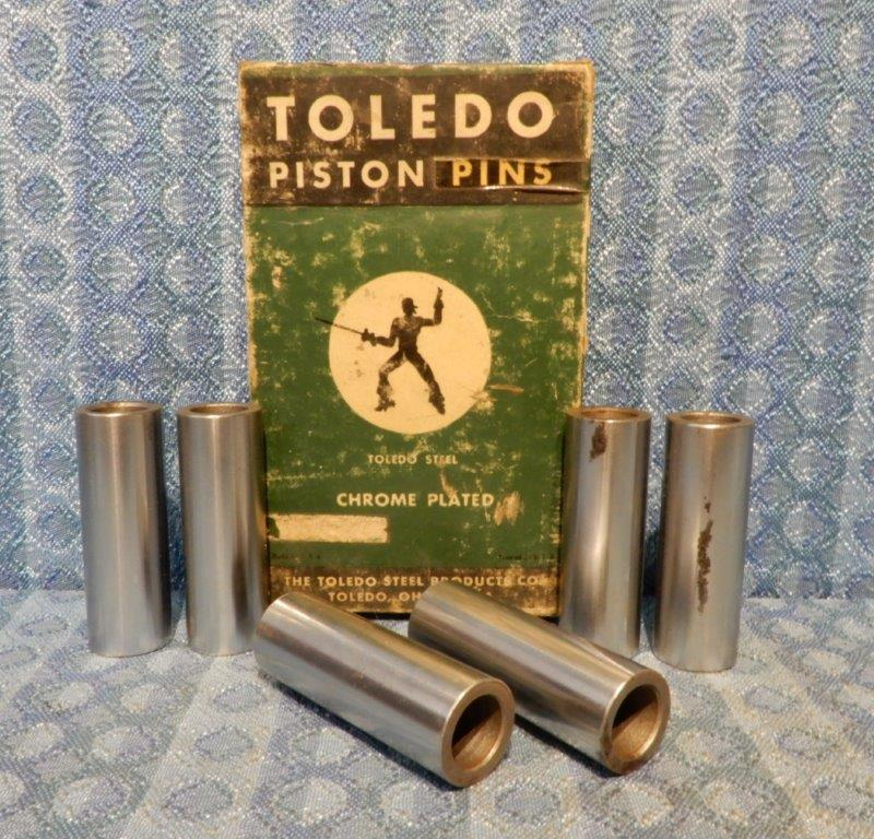 1929-1936 Chevrolet Set of 6 NORS Piston Pins .003 Oversize 1930 31 32 33 34 35