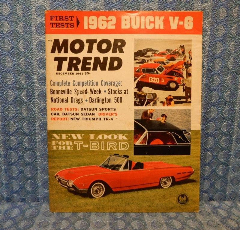 December 1961 Motor Trend Magazine '62 Special V6 Chevy II T-Bird Meteor Reports