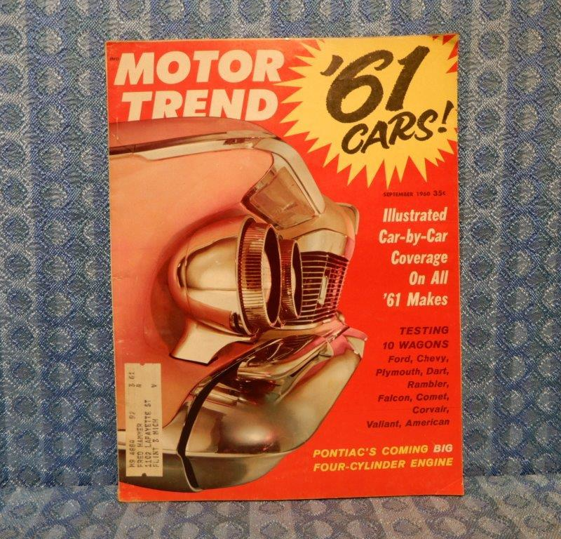 September 1960 Original Motor Trend Magazine T-Bird Monza 900 '60 Wagons Reports