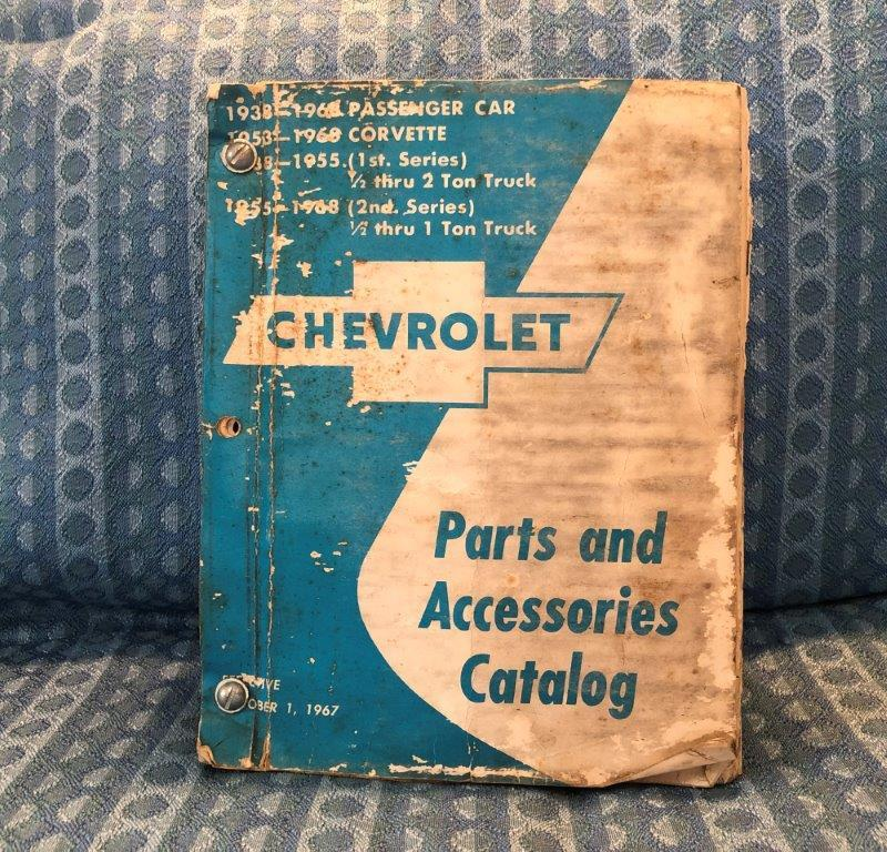 1938-1968 Chevrolet Pass, Corvette, Truck Original Parts & Accessories Catalog