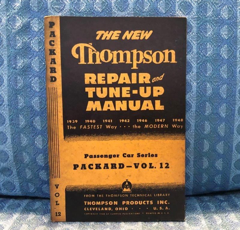 1939-1948 Packard Original Repair & Tune-Up Manual 1940 1941 1942 1946 1947