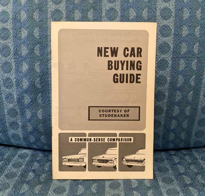 1965 Studebaker New Car Original Buyers Guide with Comparisions