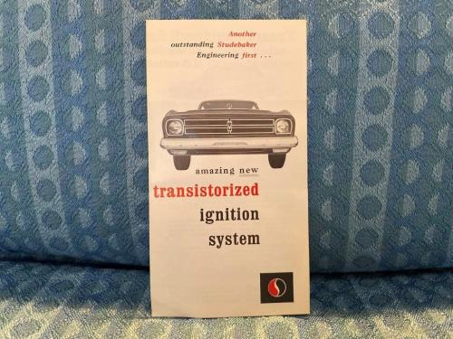 1966 Studebaker Original Sales Brochure Transistorized Ignition System