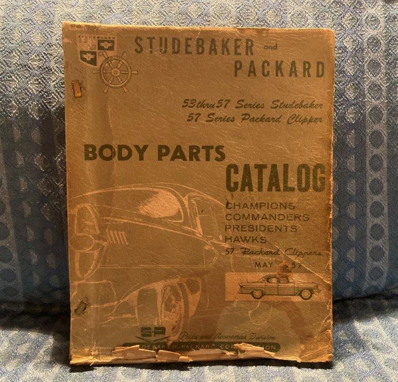 1953-1957 Studebaker Packard Original Body Parts Catalog Hawk President Champion