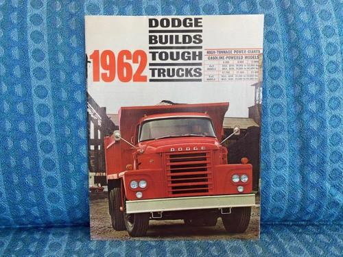 1962 Dodge Truck C800-C1000, CT700-CT900 Original Sales Brochure