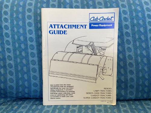 1994 Cub Cadet Lawn & Garden Tractors Original Attachment Guide