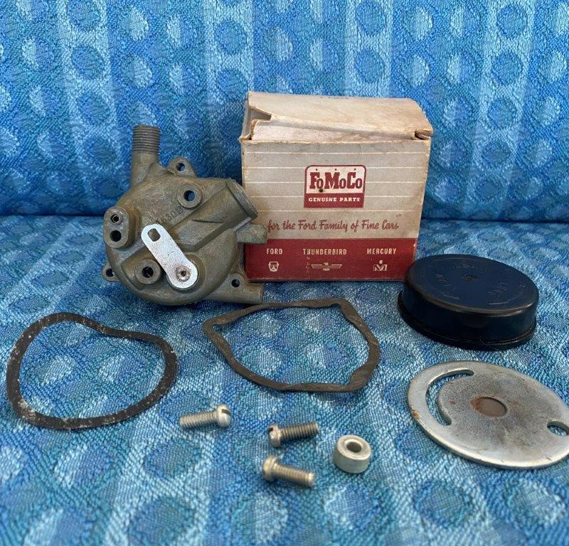 1956 1957 Ford Mercury T-Bird NOS Dual Quad, Supercharger Choke Assy #B6A-9550-A