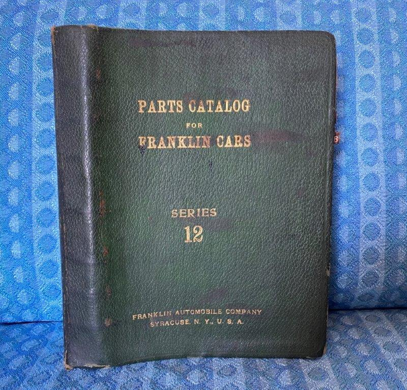 1928 Franklin Airman Series 12 Original Parts Catalog
