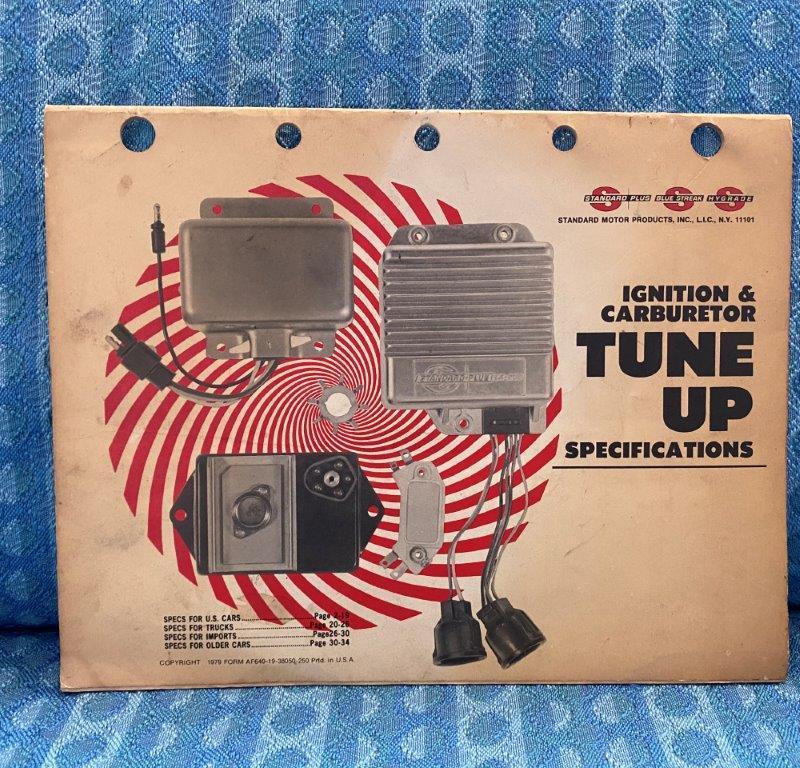 1960-1979 Standard Ignition, Carburetor & Tune-Up Specs GM Ford Mopar VW