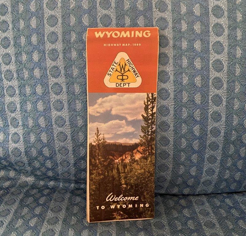 1949 Wyoming Official State Highway Road Map - Original