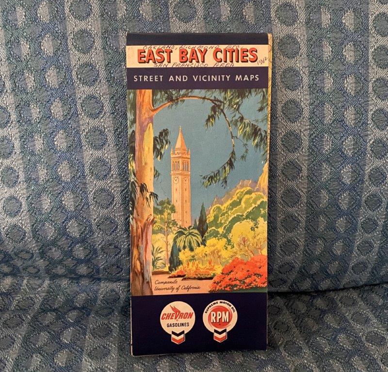 1962 East Bay Cities California Original Street & Vicinity Map - Chevron - RPM