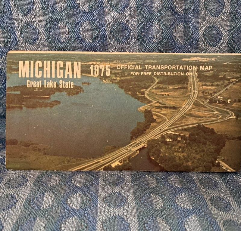 1975 Michigan Official State Transportation Road Map - Original