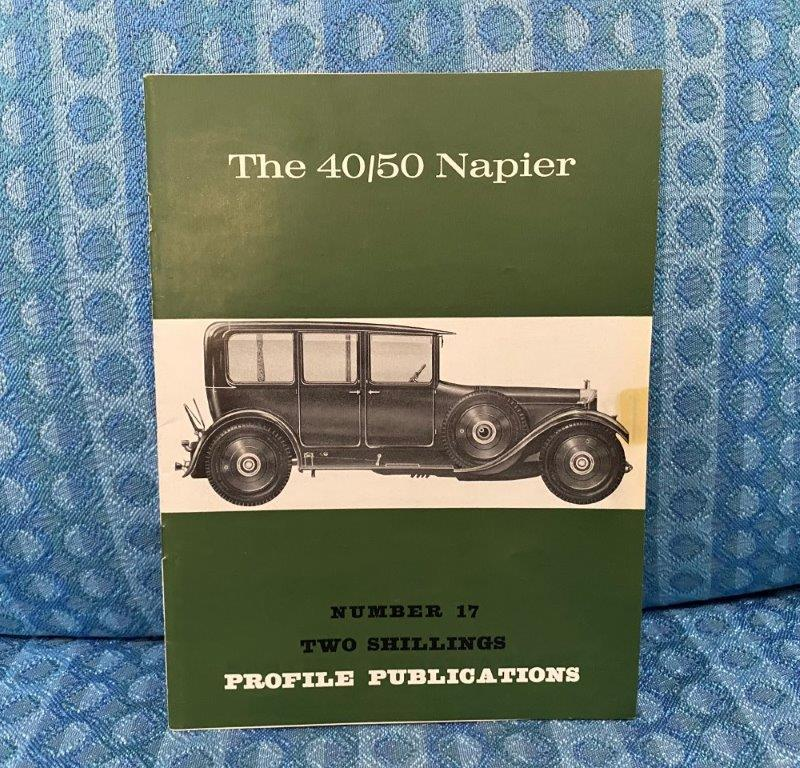 The 40/50 Napier Reference / History Book By R. Barker 1966 Profile Publications