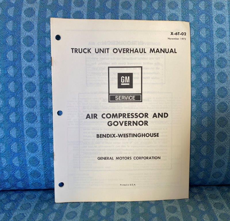 1973 Chevrolet & GMC Truck Bendix-Westinghouse Air Compressor & Governor Manual