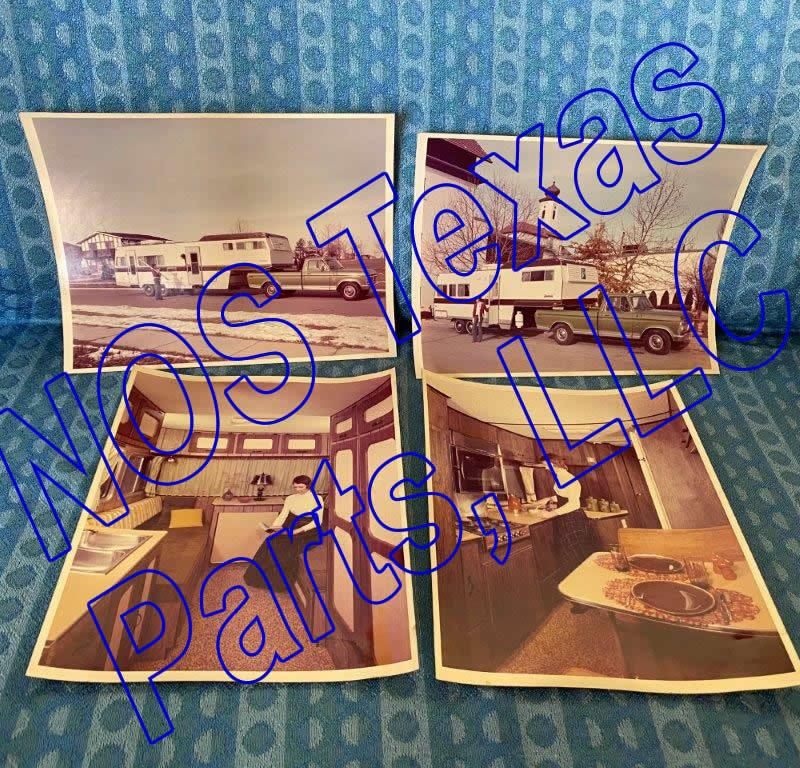 1973 Vagabond 5th Wheel Trailer Lot of 4 Original Factory Photos - Ford Pickup