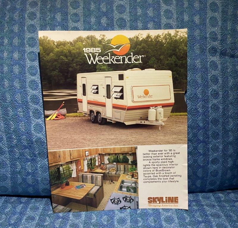 1985 Skyline Weekender Travel Trailer Original Sales Flyer