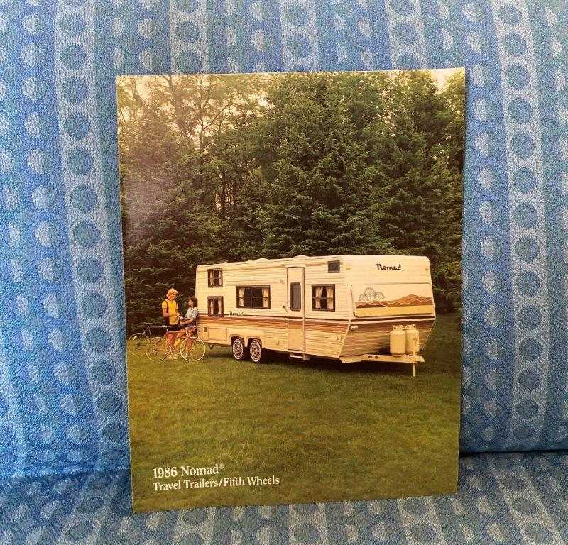 1986 Nomad Travel Trailer & Fifth Wheel Original Color Sales Brochure