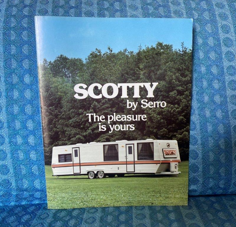 1986 Scotty by Serro Travel Trailer Original Sales Brochure