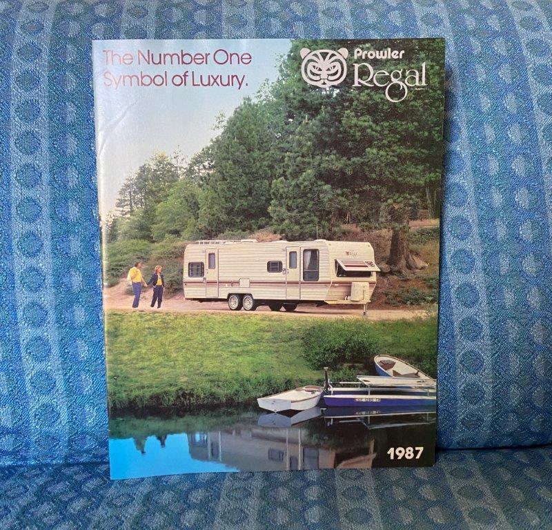 1987 Prowler Regal Travel Trailer & 5th Wheel Original Color Sales Brochure